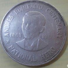 Monedas antiguas de Oceanía: UN PESO DE PLATA DE FILIPINAS 1963. Lote 87037418