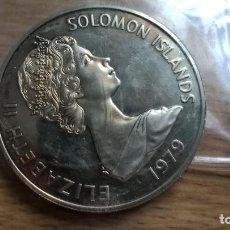 Monedas antiguas de Oceanía: ISLAS SALOMON. 10 DOLLARS DE PLATA. MONEDA MÓDULO GRANDE. Lote 95538327