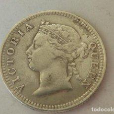 Monedas antiguas de Oceanía: RARA MONEDA DE PLATA DE 10 CENTIMOS DE ISLAS MAURICIO DE 1886, REINA VICTORIA, COLONIA DE INGLATERRA. Lote 96768991