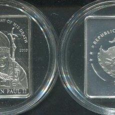 Monedas antiguas de Oceanía: PALAU 1 DOLAR 2010 PAPA JUAN PABLO II. Lote 97595583