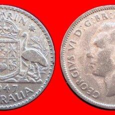 Monedas antiguas de Oceanía: SILVER 1 FLORIN 1947 AUSTRALIA 03200T PLATA COMPRAS SUPERIORES 40 EUROS ENVIO GRATIS. Lote 99779747