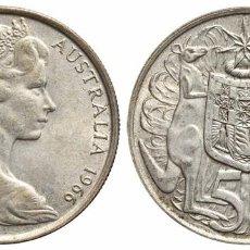Monedas antiguas de Oceanía: *** MAGNÍFICOS 50 CENTIMOS DE 1966, AUSTRALIA. CANGUROS KM#67 PLATA (AR) ***. Lote 102435999