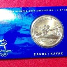 Monnaies anciennes d'Océanie: AUSTRALIA 5 DOLARES, JUEGOS OLÍMPICOS DE SÍDNEY 2000 , CANOA, KAYAK . Lote 103064227