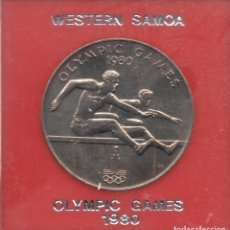 Monedas antiguas de Oceanía: WESTERN SAMOA - 1 TALA 1980 OLIMPIC GAMES. Lote 103504611