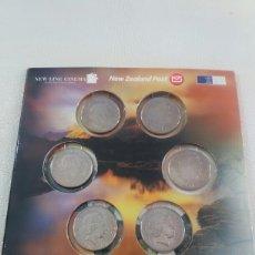 Monedas antiguas de Oceanía: ESTUCHE 6 MONEDAS EL SEÑOR DE LOS ANILLOS NUEVA ZELANDA 2003 THE LORD OF THE RINGS. Lote 104010382