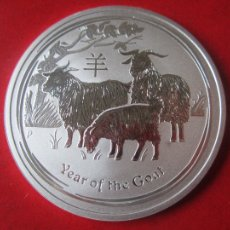 Monedas antiguas de Oceanía: AUSTRALIA. ONZA DE PLATA PURA 2015. AÑO DE LA CABRA. Lote 107638626