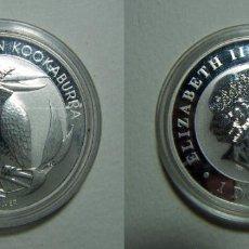Monedas antiguas de Oceanía: MONEDA DE AUSTRALIA 1 DOLAR 2012 KOOKABURRA 1 ONZA PLATA PURA. Lote 107802819