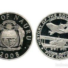Monedas antiguas de Oceanía: NAURU 5 DOLARES 2008. Lote 108728407