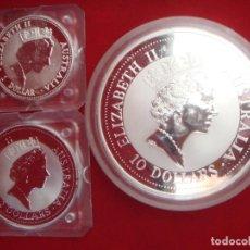 Monedas antiguas de Oceanía: 1992 - AUSTRALIA - 10 OZ, 2 OZ, 1 OZ - ELIZABETH II - MODELO KOOKABURRA. Lote 108740447