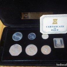 Monedas antiguas de Oceanía: SET MONEDAS ISLE OF MAN MILLENNIUM OF TYNWALD 1979 PLATA PROOF. Lote 109588267