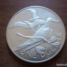 Monedas antiguas de Oceanía: ONE DOLLAR BRITICH VIRGIN ISLANDS 1973 PLATA . Lote 109790895