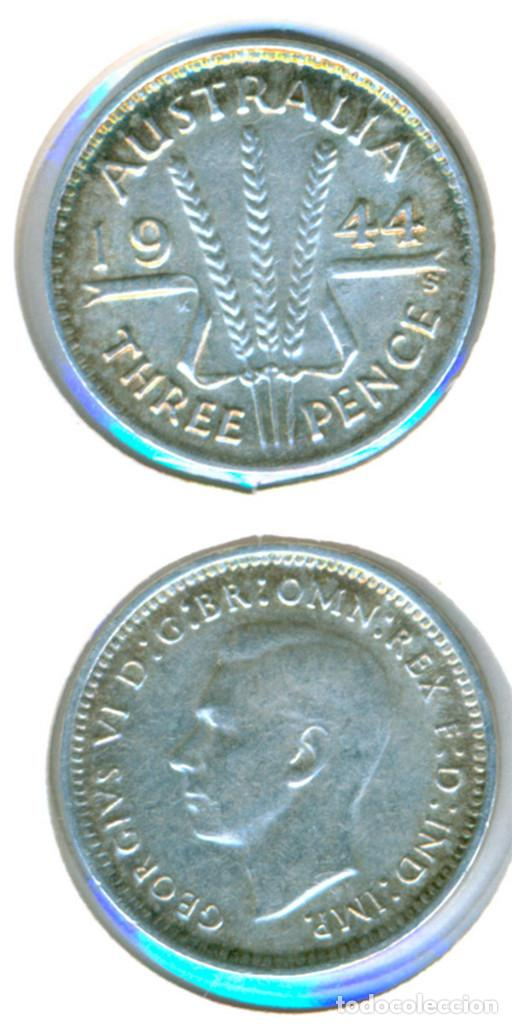 AUSTRALIA 3 PENCE 1944 - S ( MBC+ ) - GEORGE VI - PLATA (Numismática - Extranjeras - Oceanía)