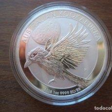 Monedas antiguas de Oceanía: 1 DOLLAR AUSTRALIA 2018 PLATA 999 1 0Z 31GR KOOKABURRA. Lote 113350299