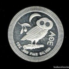 Monedas antiguas de Oceanía: MONEDA NUEVA ZELANDA PLAT 1 OZ BUHO ATENIENSE (ATHENIAN OWL) 2$ 2017. Lote 114840495