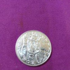 Monedas antiguas de Oceanía: MONEDA PLATA AUSTRALIA 50 CENTAVOS 1966 ELIZABETH II SIN CIRCULAR. Lote 114884655