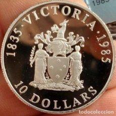 Monedas antiguas de Oceanía: BONITA MONEDA DE PLATA 10 DOLARES DOLLARS AUTRALIA 1985 CONMEMORATIVA VICTORIA 150 ANIVERSARIO. Lote 114981683