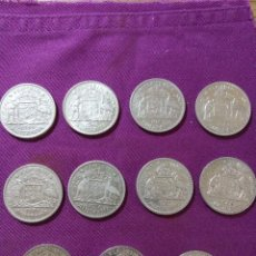 Monedas antiguas de Oceanía: LOTE 11 MONEDAS PLATA AUSTRALIA 1 FLORIN JORGE VI Y ELIZABETH II. Lote 114985199