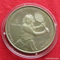 Monedas antiguas de Oceanía: NIUE 5 $ 1987 GRAF TENNIS. Lote 115422439