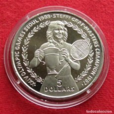 Monedas antiguas de Oceanía: NIUE 5 $ 1988 GRAF TENNIS. Lote 115422467