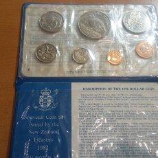 Monedas antiguas de Oceanía: COÍN SET NEW ZELANDA 1982 7 MONEDAS SC. Lote 115463868