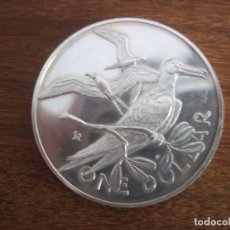 Monedas antiguas de Oceanía: ONE DOLLAR BRITISH VIRGIN ISLANDS 1974 PLATA. Lote 115742379