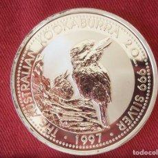 Monedas antiguas de Oceanía: 2 DOLLARS AUSTRALIA 2 OZ 62 GR 1997 PLATA 999 KOOKABURRA. Lote 116219007