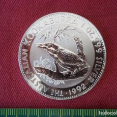 Monedas antiguas de Oceanía: ONE DOLLAR AUSTRALIA 1 OZ 31 GR 1992 PLATA 999 KOOKABURRA. Lote 116219435