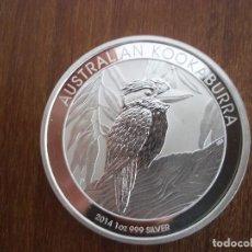 Monedas antiguas de Oceanía: ONE DOLLAR AUSTRALIA 1 OZ 31 GR 2014 PLATA 999 KOOKABURRA. Lote 116219603