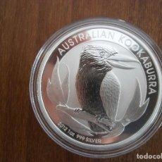 Monedas antiguas de Oceanía: ONE DOLLAR AUSTRALIA 1 OZ 31 GR 2012 PLATA 999 KOOKABURRA. Lote 116219679