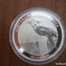 Monedas antiguas de Oceanía: ONE DOLLAR AUSTRALIA 1 OZ 31 GR 2016 PLATA 999 KOOKABURRA. Lote 116219763