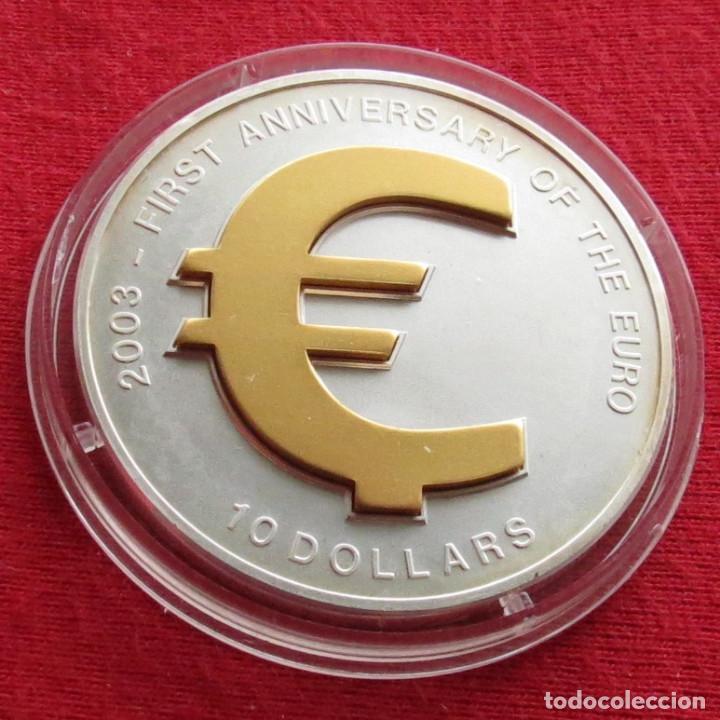NAURU 10 $ 2003 EURO MONEDAS (Numismática - Extranjeras - Oceanía)
