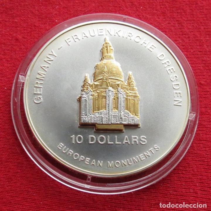 NAURU 10 $ 2004 DRESDEN LA IGLESIA (Numismática - Extranjeras - Oceanía)