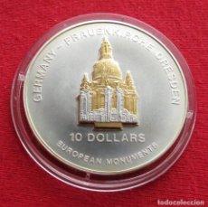 Monedas antiguas de Oceanía: NAURU 10 $ 2004 DRESDEN LA IGLESIA. Lote 116250691