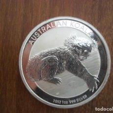 Monedas antiguas de Oceanía: 1 DOLLAR AUSTRALIA 2012 PLATA 999 1 0Z 31GR PROOF KOALA. Lote 116287115