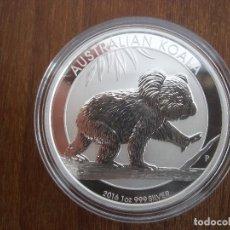 Monedas antiguas de Oceanía: 1 DOLLAR AUSTRALIA 2016 PLATA 999 1 0Z 31GR PROOF KOALA. Lote 116293747