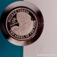Monedas antiguas de Oceanía: MONEDA DE PLATA EN CARTA NUMISMATICA NUMISBRIEF LA MADRE TERESA DE CALUTA Y PRINCESA DIANA LADY DI. Lote 117341371