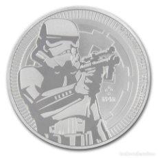 Monedas antiguas de Oceanía: NIUE 2 DOLARES MONEDA DE PLATA STAR WARS STORMTROOPER DE NIUE 2018 1 OZ. Lote 117989327