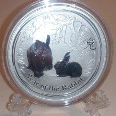 Monedas antiguas de Oceanía: 2011 - AUSTRALIA - AÑO LUNAR II - CONEJO - ONZA DE PLATA. Lote 119285835