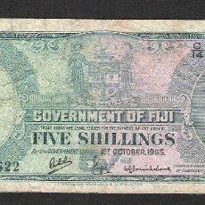 Monedas antiguas de Oceanía: FIJI 5 SHILLINGS 1965 MBC-. Lote 119437571