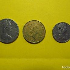 Monedas antiguas de Oceanía: LOTE 3 MONEDAS NUEVA ZELANDA. OCEANÍA. NEW ZEALAND ELIZABETH II PAJARO AVE. VER FOTOGRAFIAS. DOLLARS. Lote 120242183