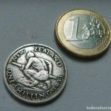 Monedas antiguas de Oceanía: MONEDA DE PLATA DE 1 CHELIN DE NUEVA ZELANDA AÑO 1933. Lote 120411127