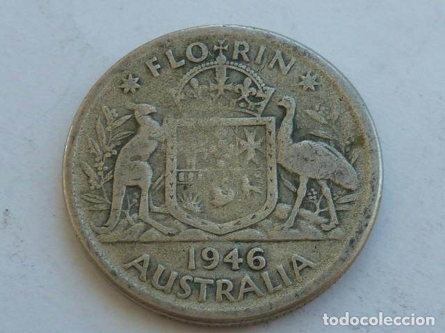MONEDA DE PLATA DE 1 FLORIN DE AUSTRALIA DE 1946, REY JORGE VI DE INGLATERRA., PESA 11,1 GRS (Numismática - Extranjeras - Oceanía)