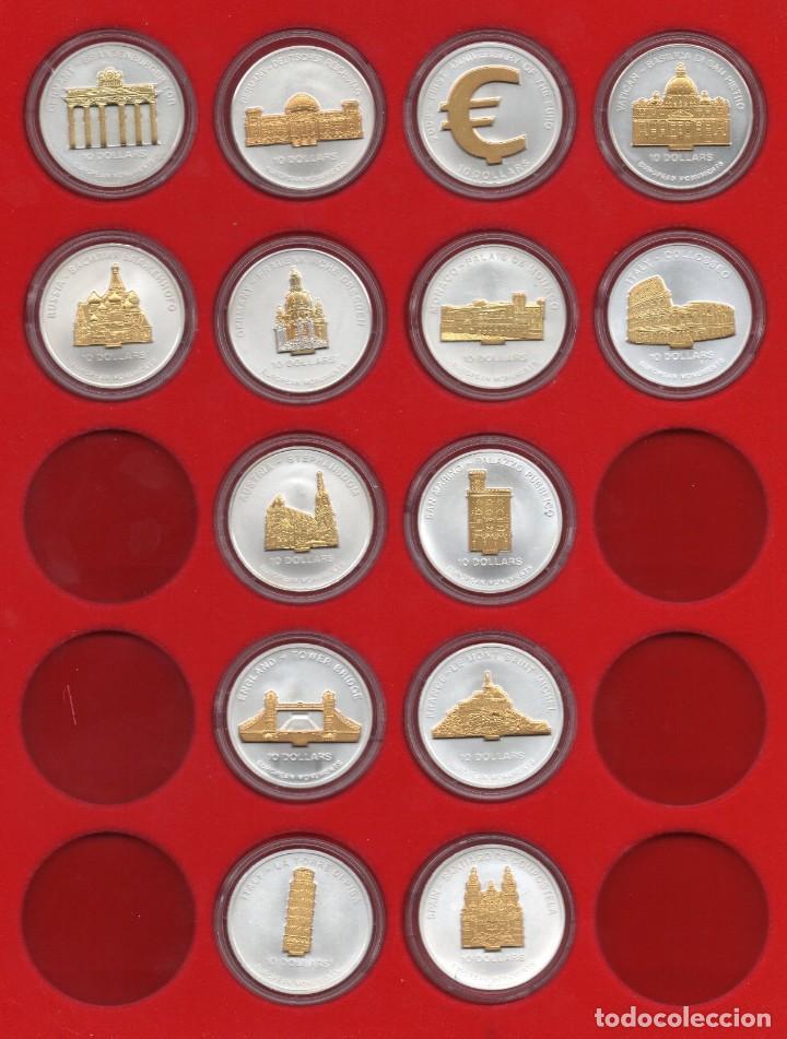 NAURU 10 DOLARES (COLECCION DE 14 MONEDAS) (Numismática - Extranjeras - Oceanía)