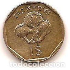 Monedas antiguas de Oceanía: ISLAS FIDJI,1 $ 1987.. Lote 125845451