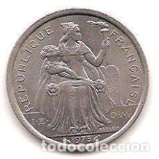 Monedas antiguas de Oceanía: POLINESIA FRANCESA,2 FRANCS 1975.. Lote 125964471