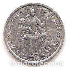Monedas antiguas de Oceanía: POLINESIA FRANCESA,1 FRANCS 1982.. Lote 125964539