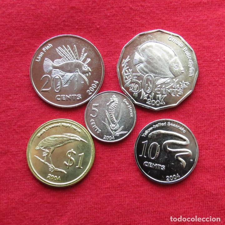 COCOS KEELING ISL. SERIE 5 10 20 50 CENTS $ 1 - 2004 UNC (Numismatik - Internationale Münzen - Ozeanien)