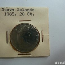 Monedas antiguas de Oceanía: NUEVA ZELANDA 1985 20 CENTIMOS. Lote 128423727