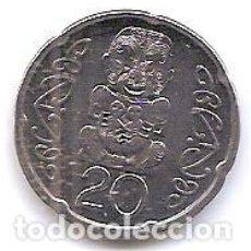 Monedas antiguas de Oceanía: NUEVA ZELANDA,20 CENTS 2006.. Lote 133676574