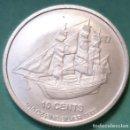 Monedas antiguas de Oceanía: ISLAS COOK - 10 CENTS 2018 - 1/10 ONZA - 9999 PURA PLATA FINA - SIN CIRCULAR - BARCO - ENCAPSULADA. Lote 134671282